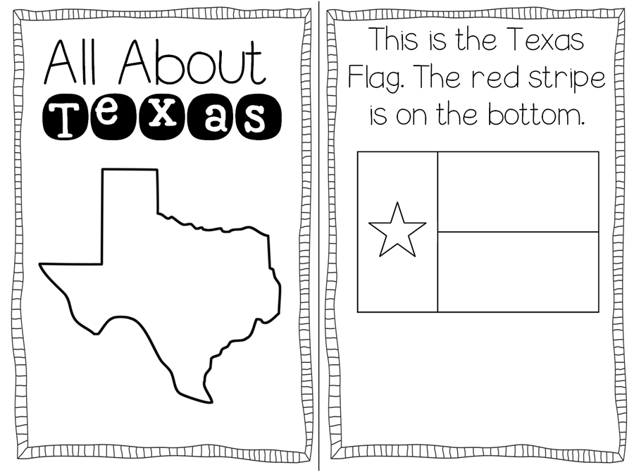 flag of texas coloring page - texas symbols freebie teaching with haley o 39 connor