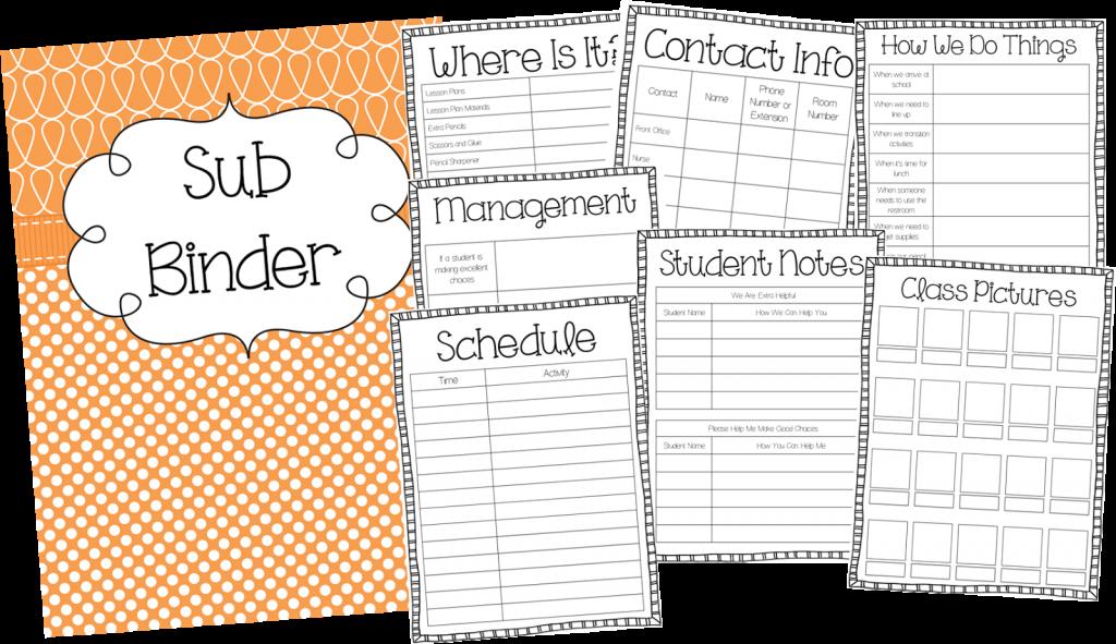 My Sub Binder | Teaching With Haley O\'Connor