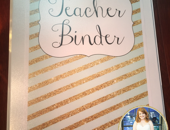 Gold and Mint Binder