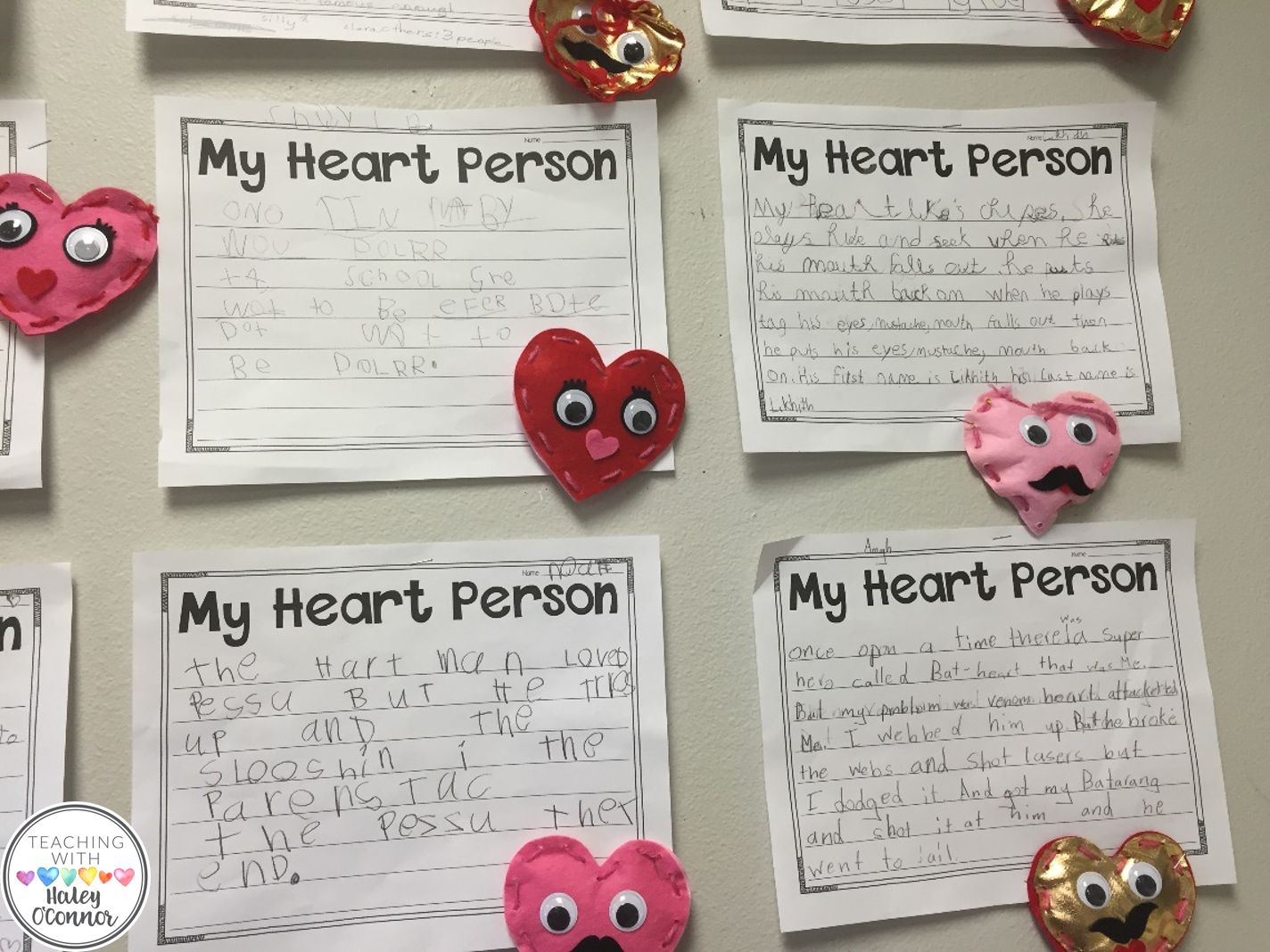 My Heart Person Writing for Valentine's Day