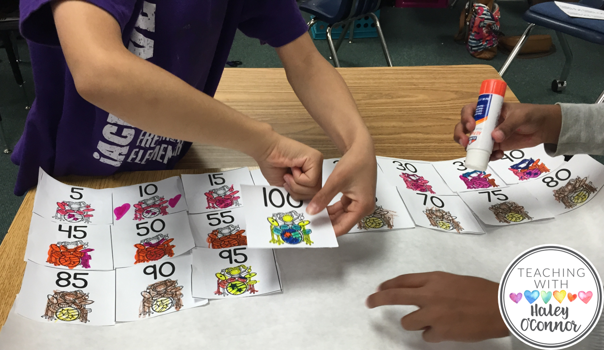 Students Work Together to Skip Count to 120