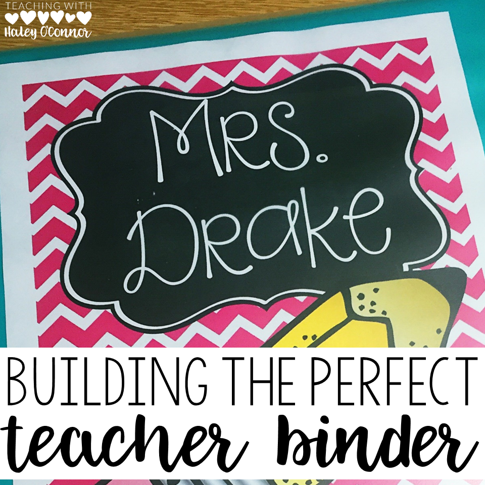 Building the Perfect Teacher Binder