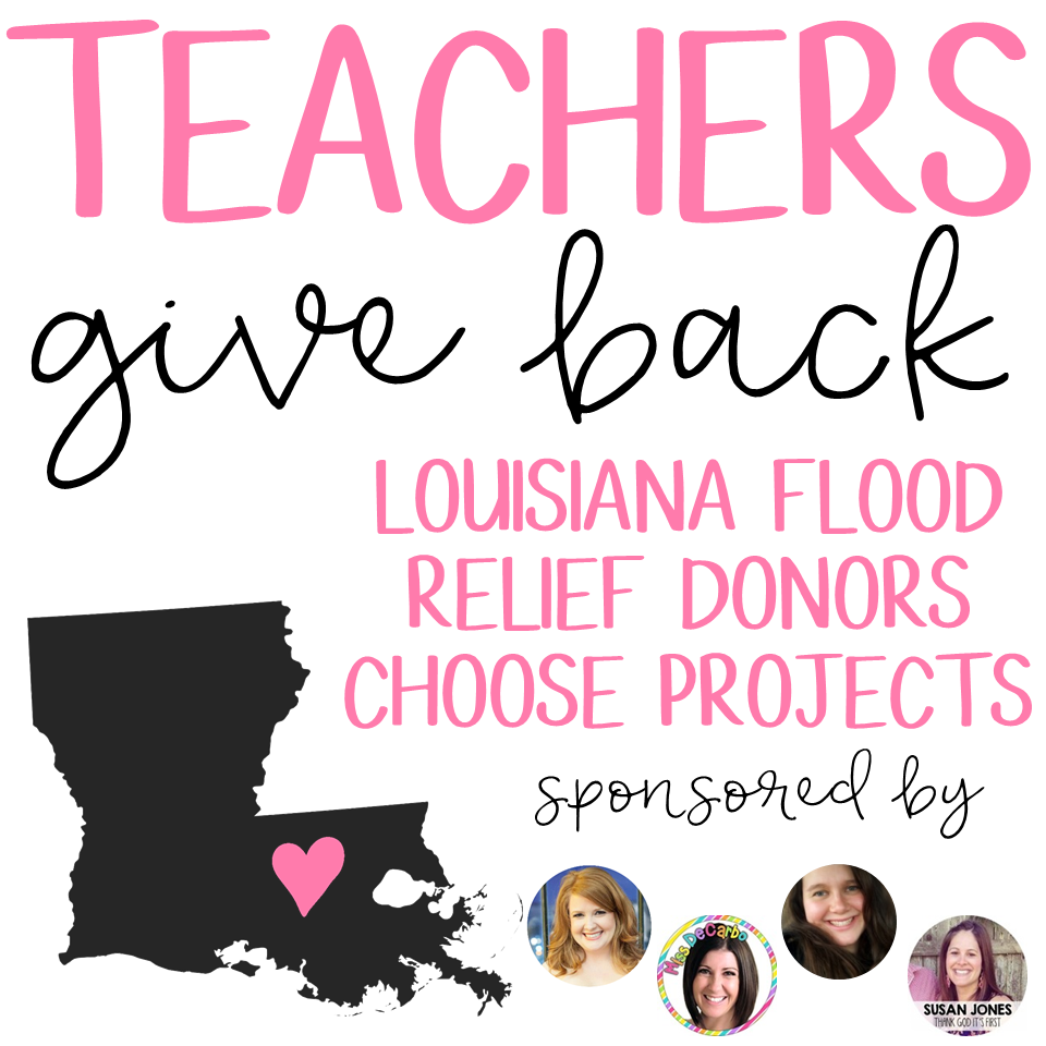 Teachers Give Back; Donating to classroom affected by the Louisiana flood