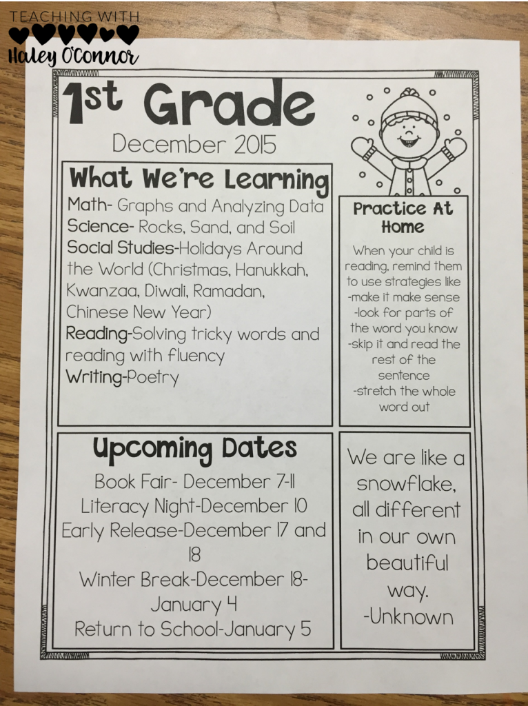 Class Newsletters for Easy Organization. Great tips for new teachers.