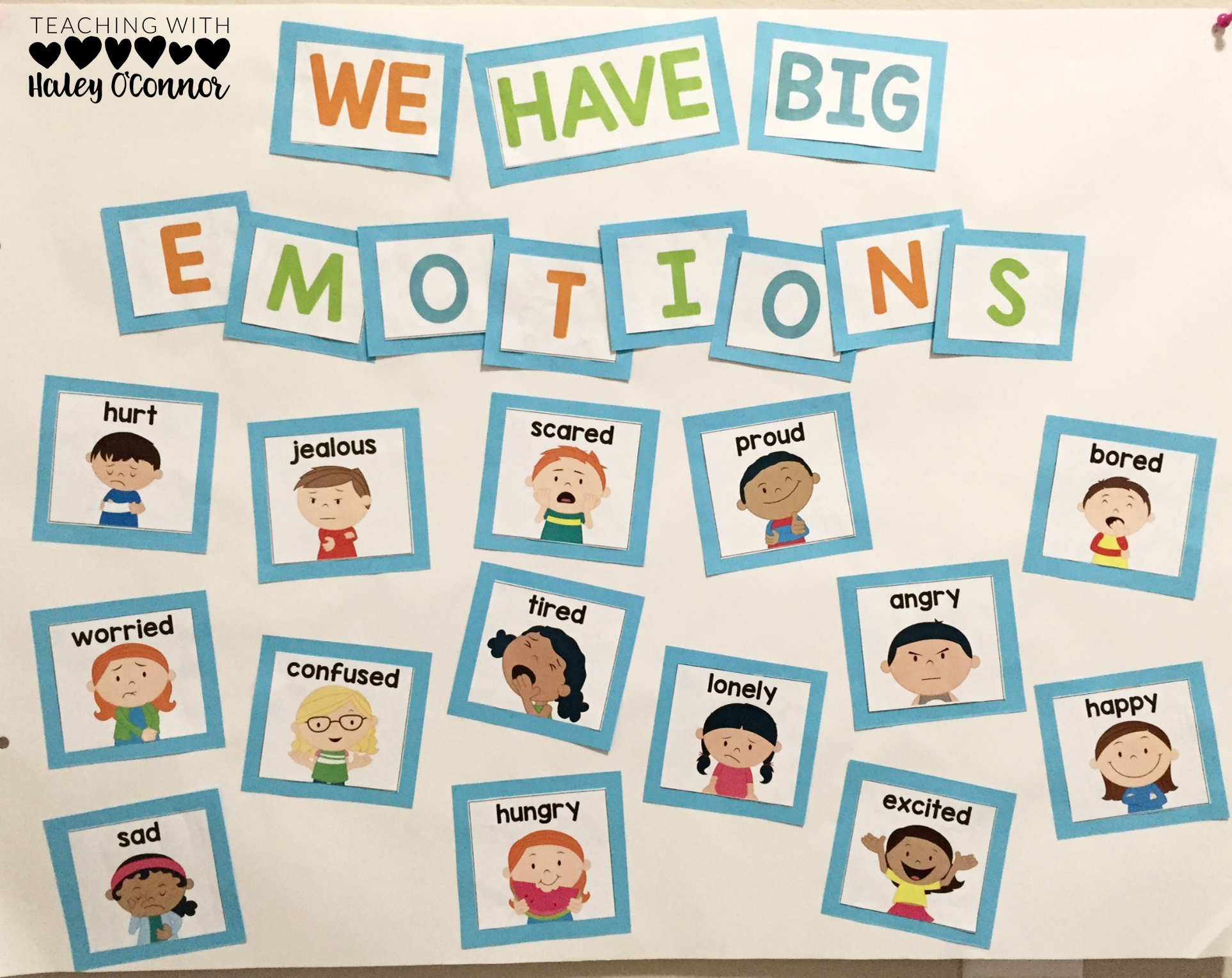 Big Emotions Anchor Chart to teach about self-control