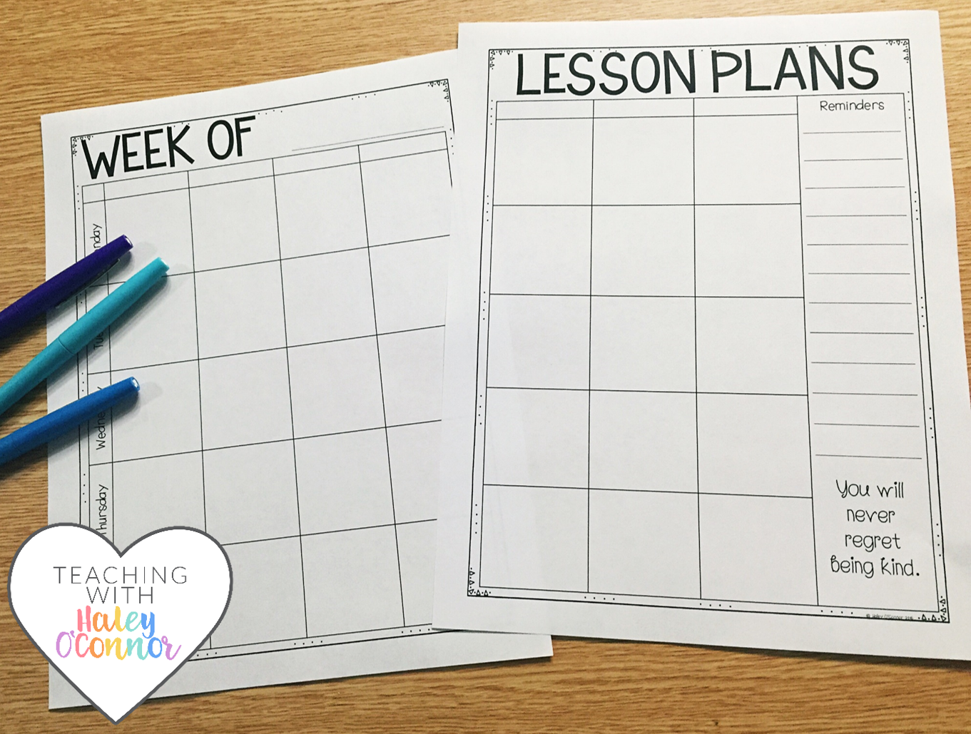 Lesson Planning Page by Haley OConnor