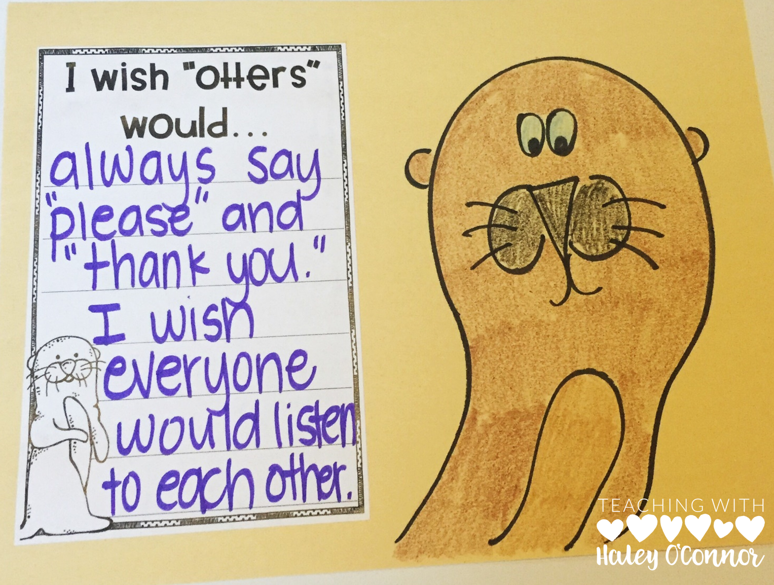 Manners Craft for students to use when talking about manners and respect
