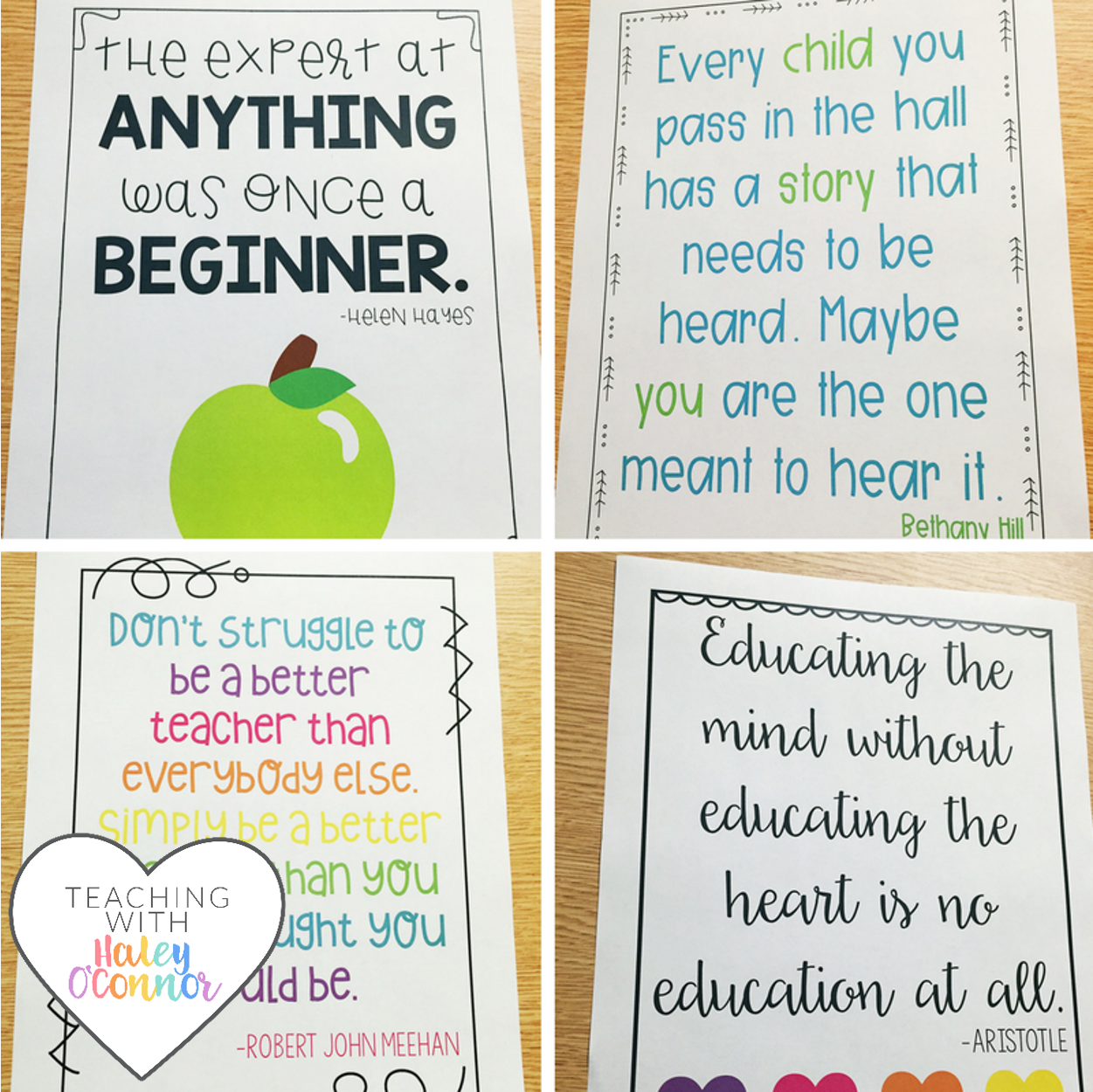 Motivational Posters for Teachers by Haley OConnor
