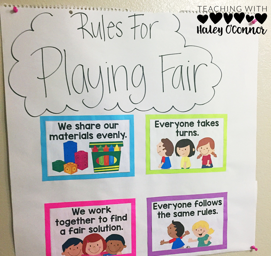 Rules for Playing Fair Anchor Chart.
