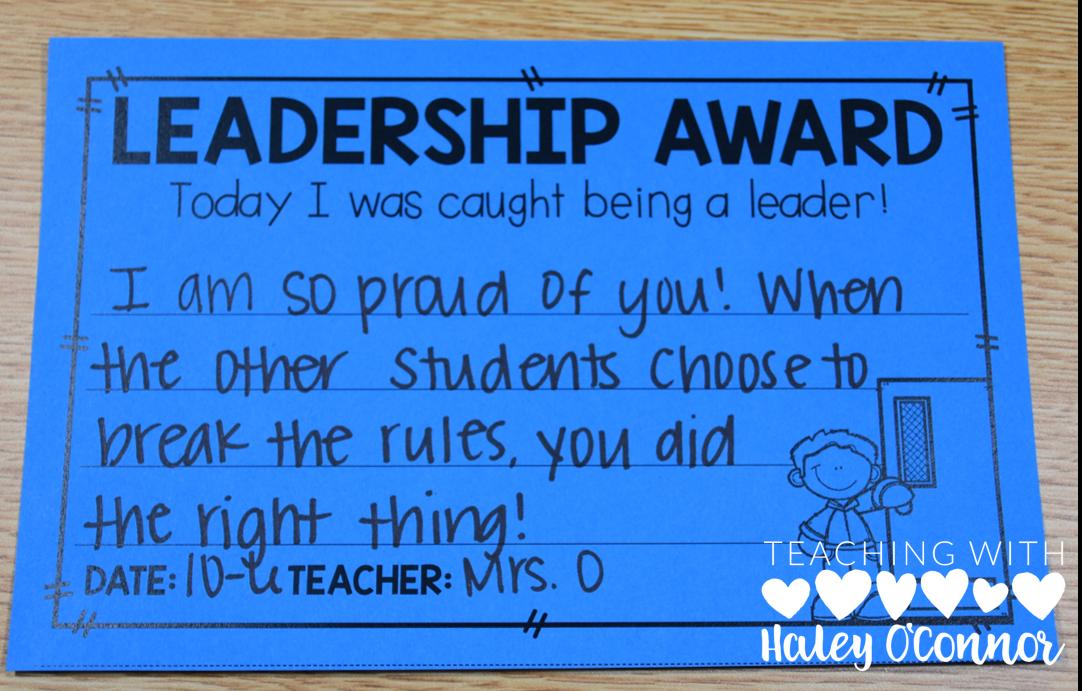 Leadership Character Award 2