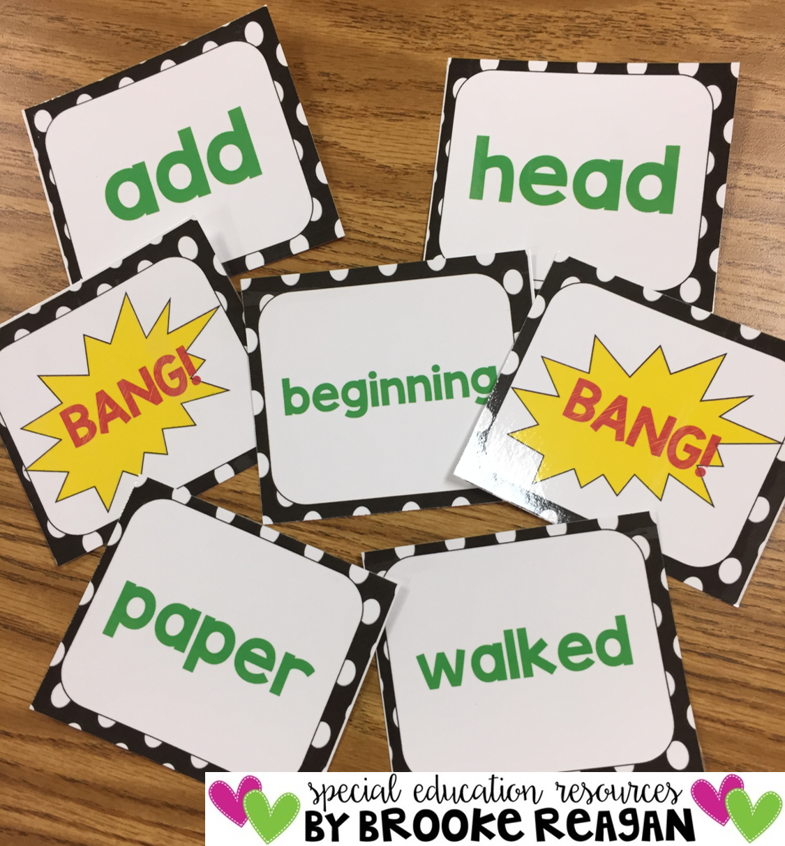 BANG! Sight WOrd Game