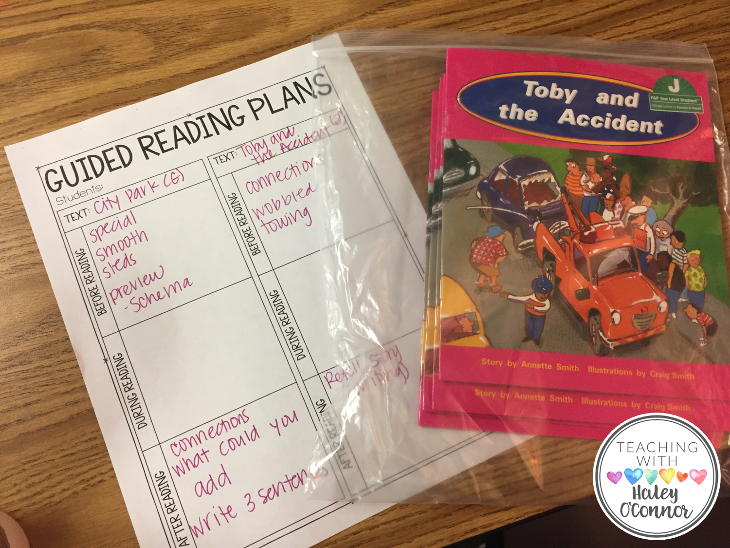 Planning Page for Guided Reading