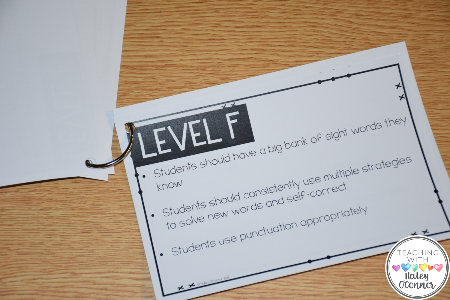 Teacher Level Guide for Guided Reading Level F