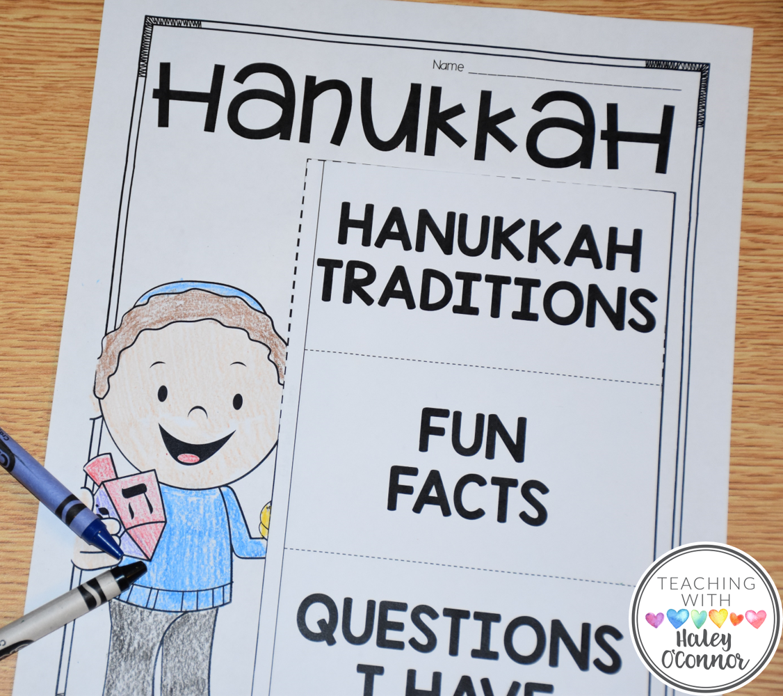 Hanukkah Flipbook for Holidays Around the World