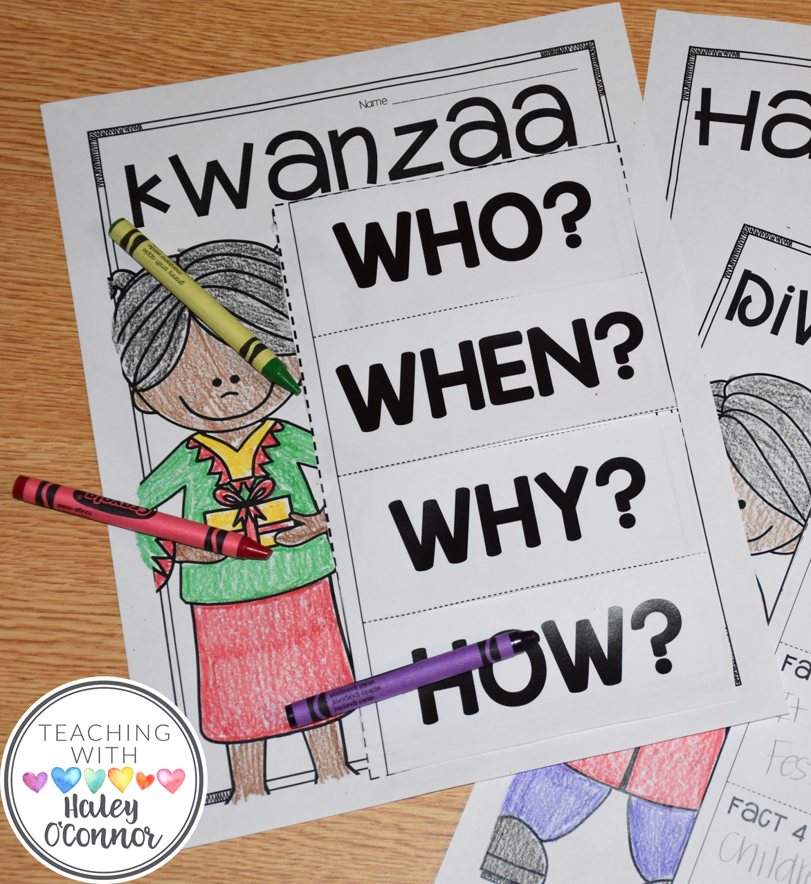 Kwanzaa Flipbook for Holidays Around the World