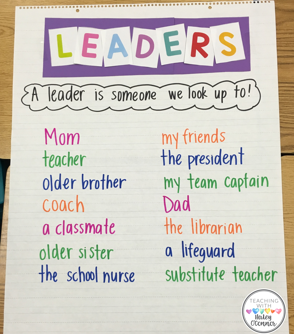Leaders We Follow Anchor Chart