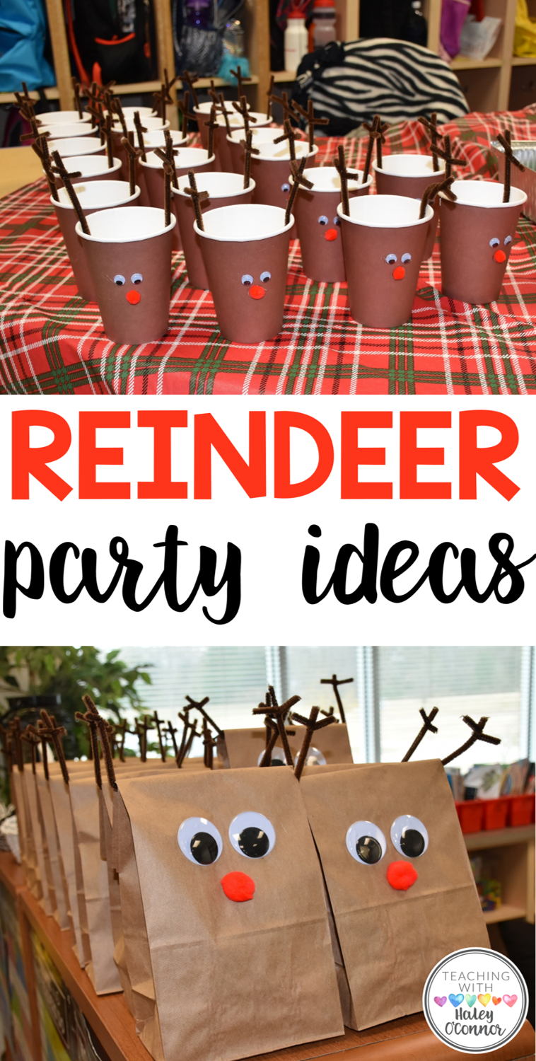 Reindeer Party Ideas for Winter Classroom Party