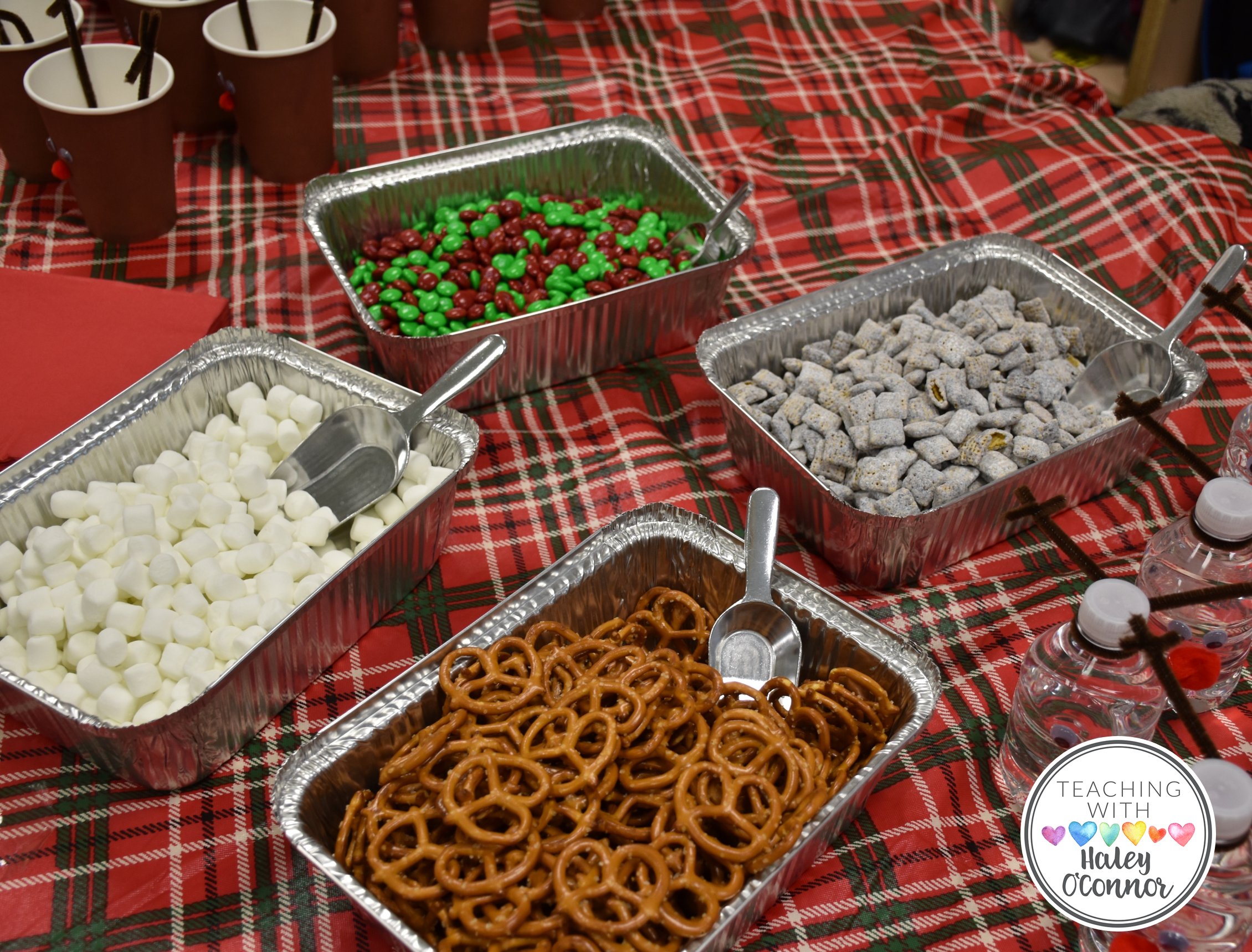 Reindeer Snack Bar at Class Christmas Party