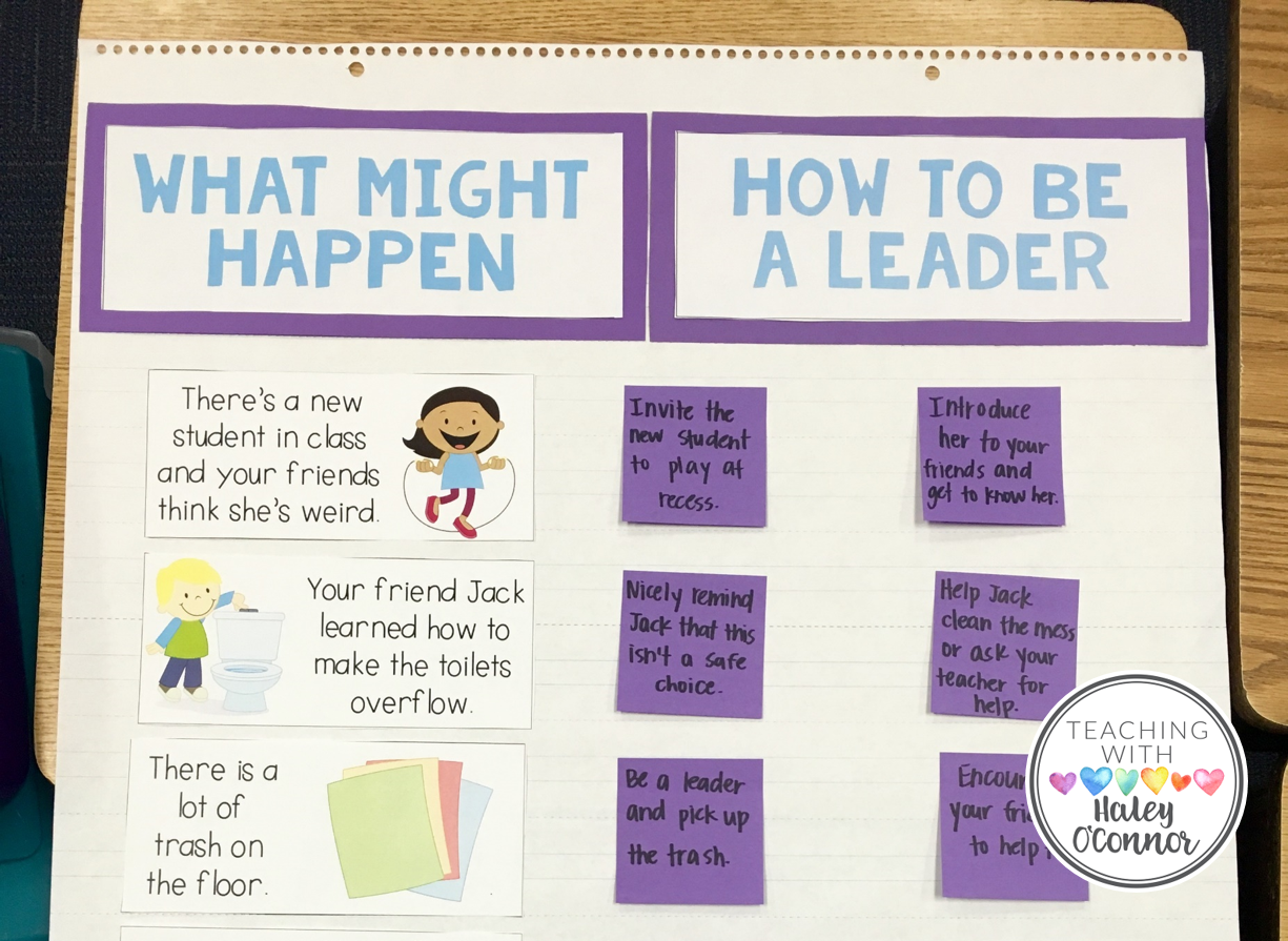 Scenarios for teaching kids how to be leaders