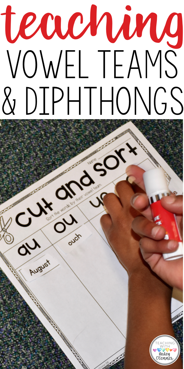 Ideas for Vowel Teams and Diphthongs. Center ideas, activites, printables, and teacher resources.