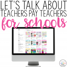 Teachers Pay Teachers for Schools