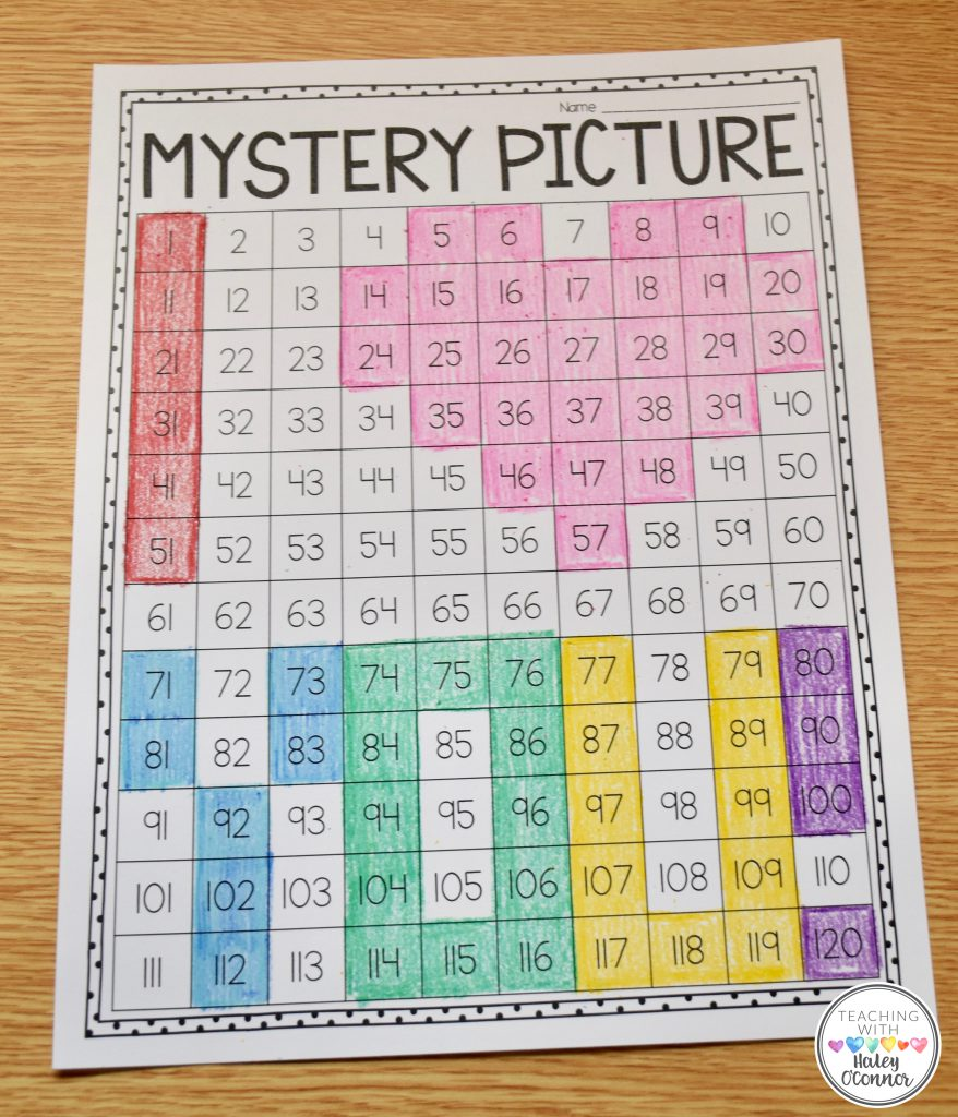 120 Chart Mystery Picture