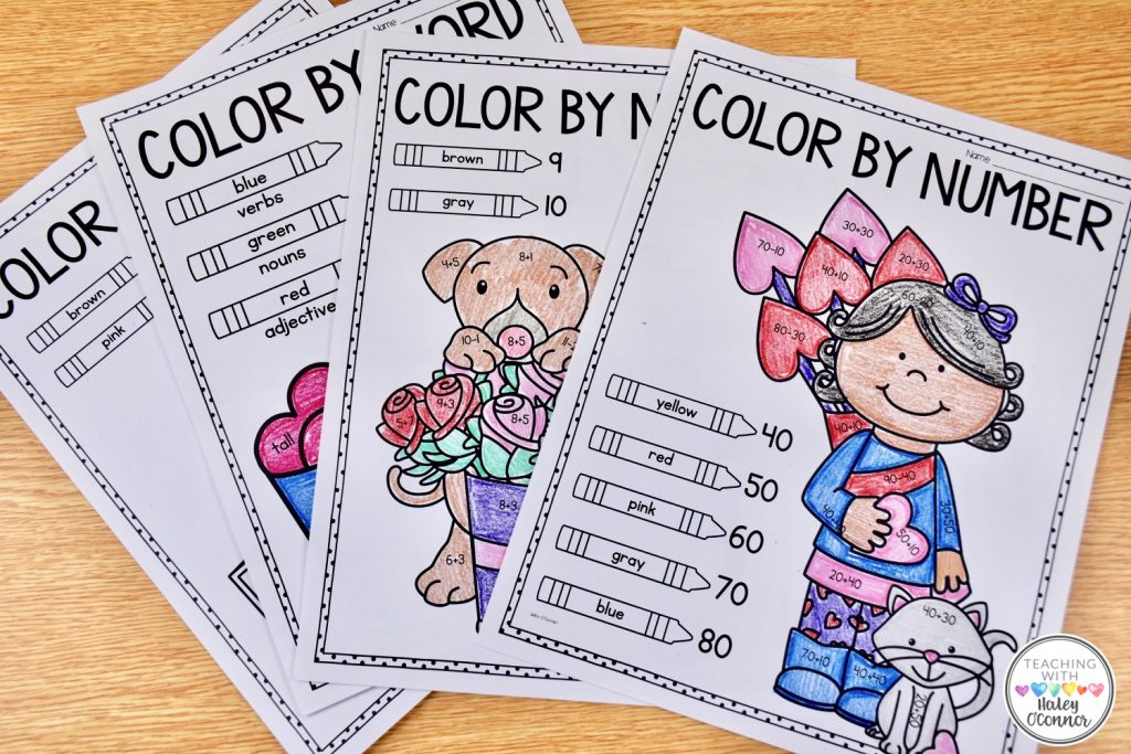 Valentine's Color by Number