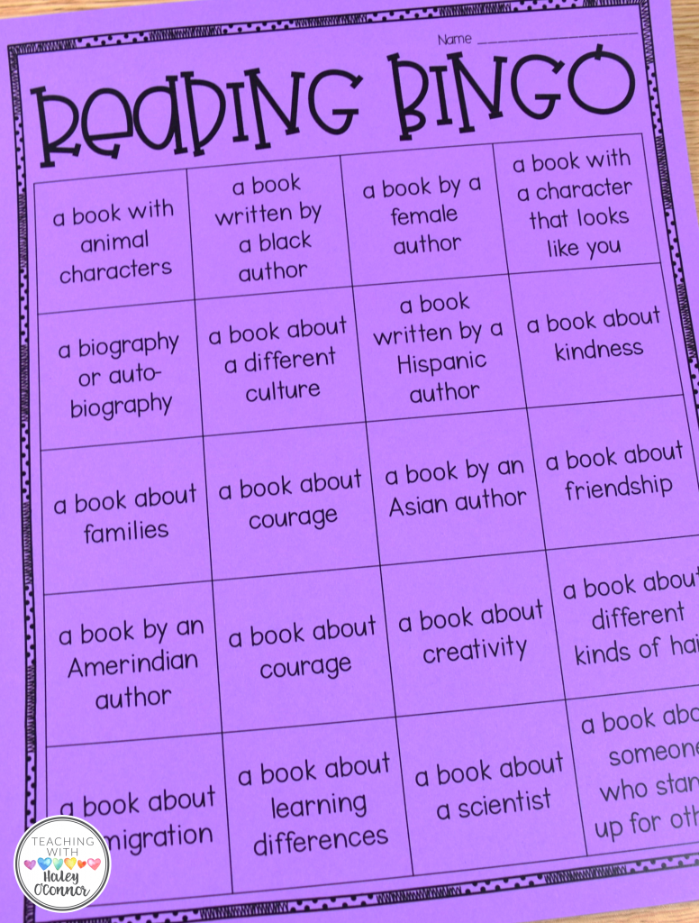 Reading Bingo for Read Across America