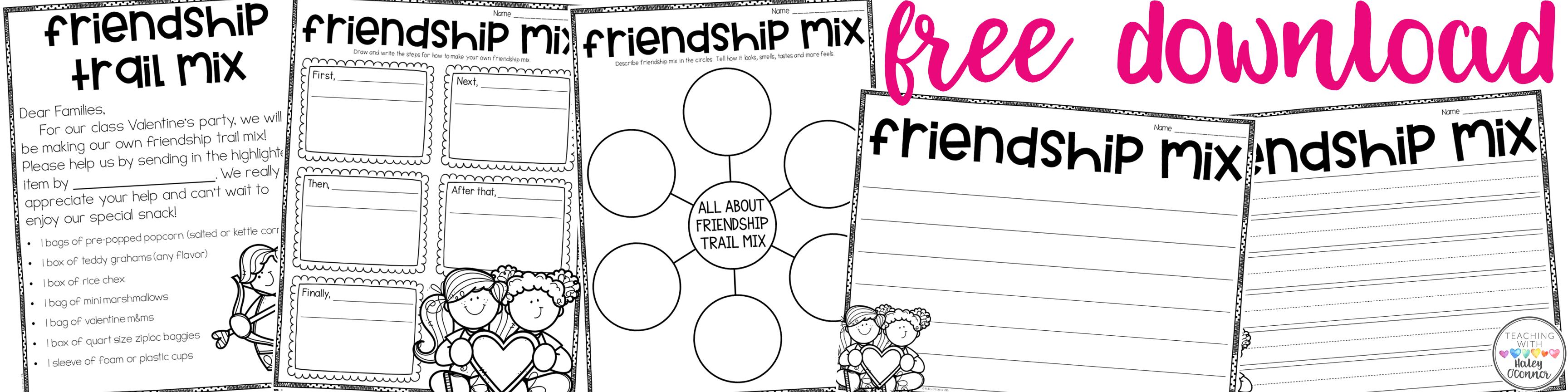 Friendship Mix Freebies