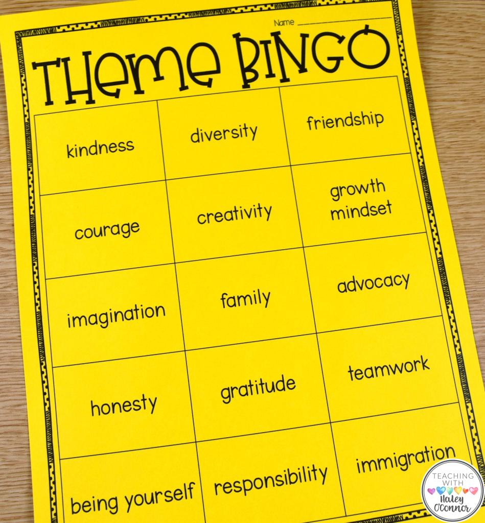 Theme Bingo fore Read Across America