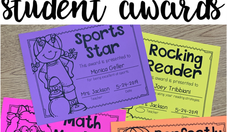 End of the Year Awards {Why and How}