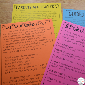 Teacher Pages for Guided Reading