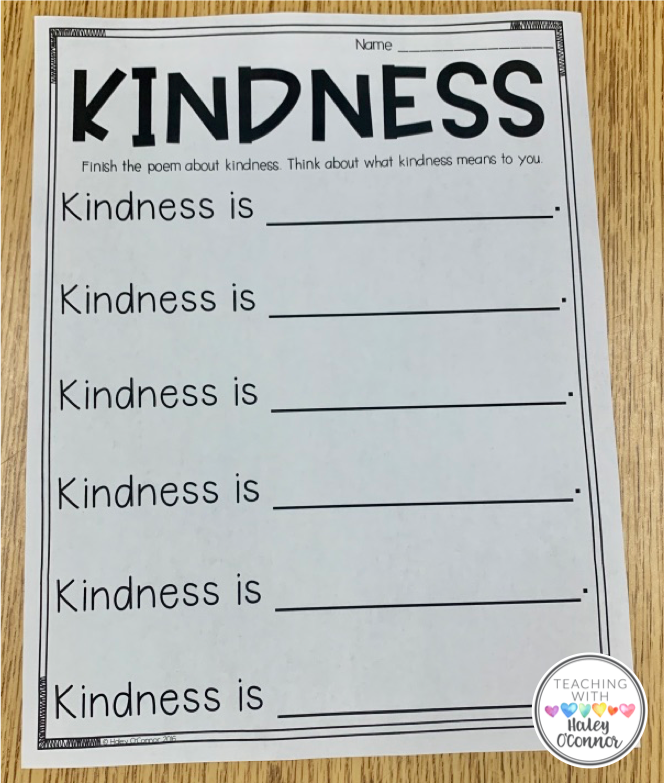 Kindness Writing