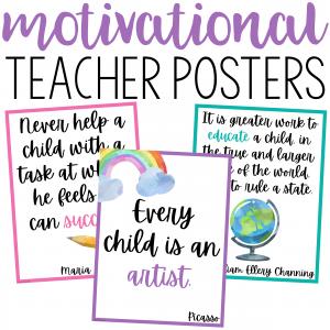 Motivational Teacher Posters