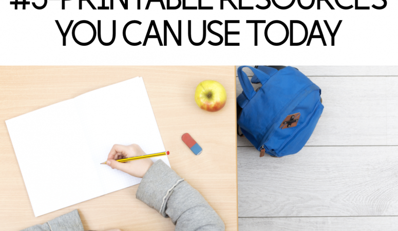 Family Blog Series #5- Printable Resources You Can Use Today