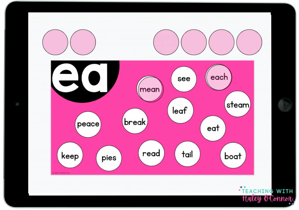 Digital vowel team activities for students to practice vowel teams and diphthongs.