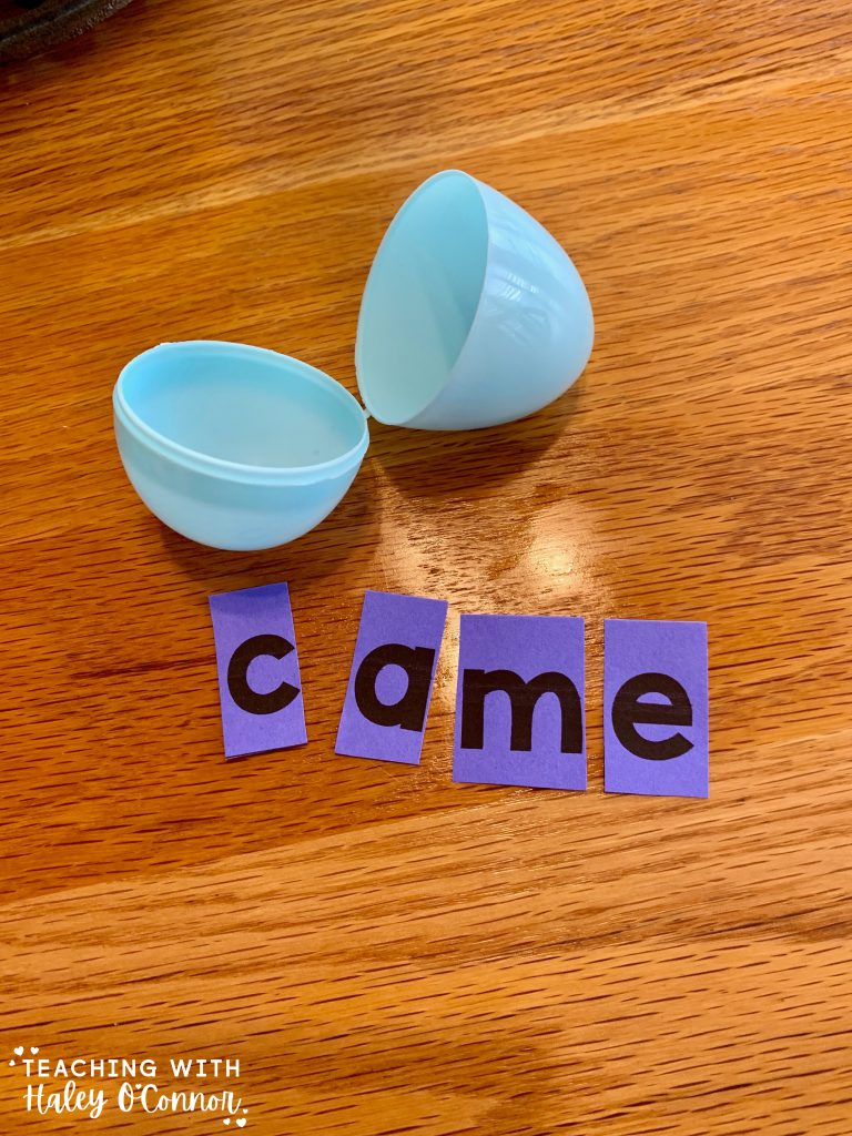 Easter egg activities. Unscramble the sight word. Different levels for students or kids at home.