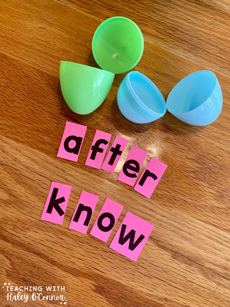 Easter egg activities. Unscramble the sight words. Different levels for students or kids at home.