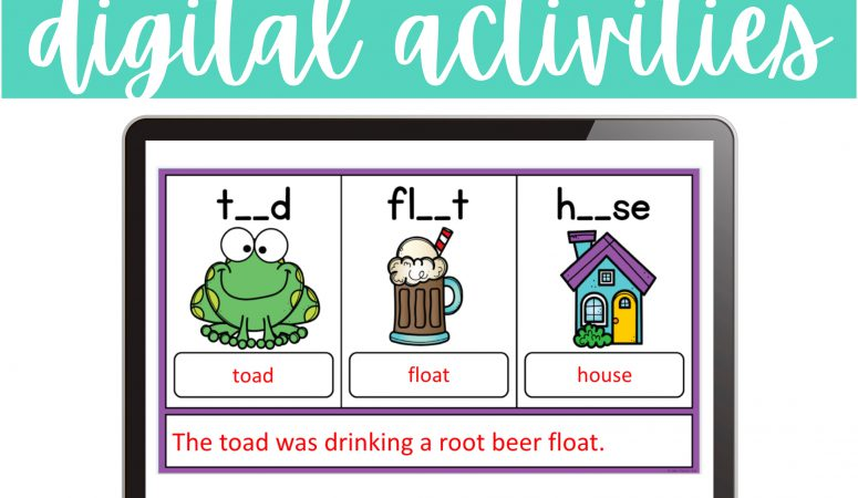 Digital Activities for Vowel Teams and Diphthongs