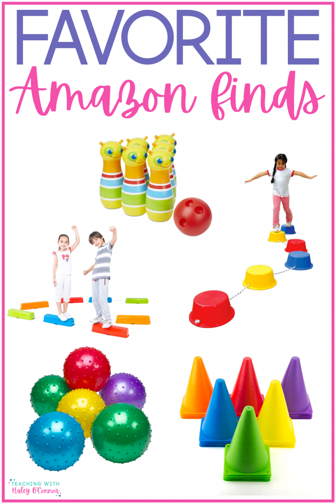 Favorite Amazon finds for PE at home; staying active at home during school closures; favorite Amazon finds for PE and PE at home