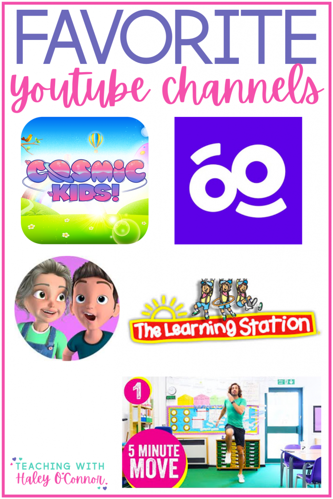 Favorite youtube channels to keep kids active and moving; Youtube for PE; Youtube for indoor recess