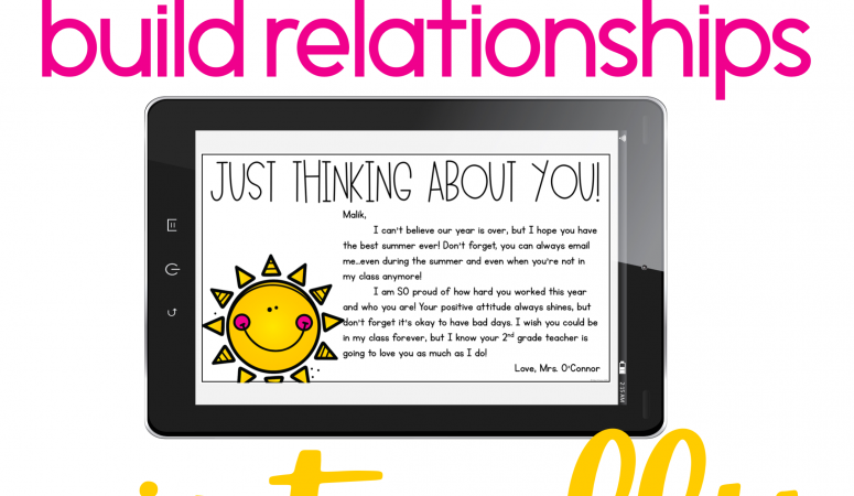 5 Simple {and FREE} Ways to Build Relationships Virtually with Students